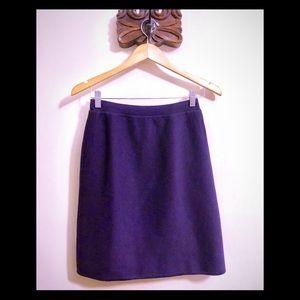 Dana Buchman | Purple Wool Pencil Skirt